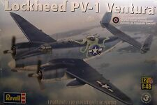 WWII LOCKHEED PV1 VENTURA TWIN ENGINE BOMBER 1:48 SCALE REVELL PLASTIC MODEL KIT