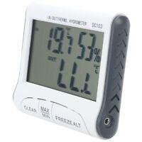 Higrometro termometro digital LCD Medidor de humedad y temperatura con cabl W7K5