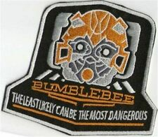 """BUMBLEBEE LEAST LIKELY Transformers 3.5"""" x 3"""" Iron On Embroidered Patch"""