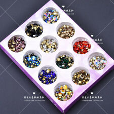 12 Colors Glass Crystal Rhinestone Point Back Nail Art Decoration DIY Craft Bead
