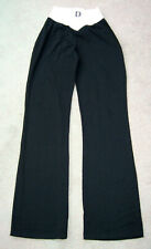 Black/White Flared Leg Cotton/Lycra Trouser New Made 1990's Small ONE OFF SAMPLE