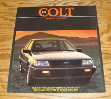Original 1987 Dodge Colt Sales Brochure 87