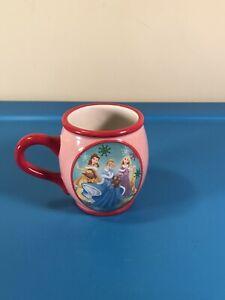 Disney 3 Princess Coffee Tea Mug Cup Pink Mauve Rapunzel Cinderella Belle