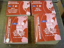 OEM Ford 2011 Fusion Milan MKZ Shop Manuals Books Wiring Diagram nos Hybrid