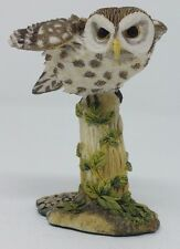 Franklin Mint Little Owl Sculpture The Magnificent World of Owls