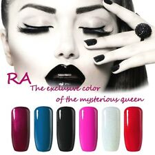 RA UV Nagellack Soak-Off Gellack Nail Polish Nagelgel 6 Farben Schwarz Blau Rot