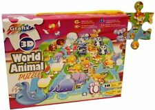 Grafix 3D World Animal Jigsaw Puzzle - Learning Education Geography Childrens