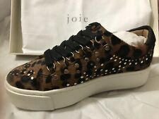 Joie Leopard-Print Platform Sneakers, Size 6.5