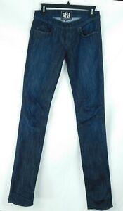 NWOT Rock & Republic Mischa Dark Wash Straight Slim Leg Womens Jeans Size 25/34