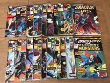 More details for vintage retro 1970's marvel comics group dracula lives comic job lot bundle x 20
