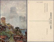 CONSTANTINOPLE KONSTANTINOPEL ISTANBUL - Rouméli Hissar Bosporus - col-AK um1918