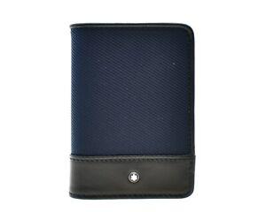 Montblanc Nightflight Card Case Wallet Blue New