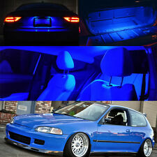 For 92-95 Honda Civic BLUE LED Bulb Full Package Map Dome Trunk + License Plate