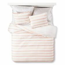 Threshold 3 piece Texture Stripe Duvet Cover Set King size