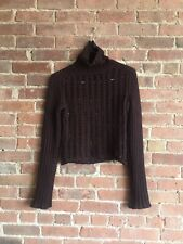 Dries Van Noten Womens Sweater Sz Small, Maroon Adorable!