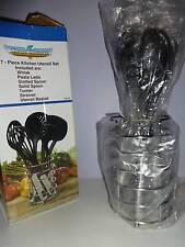 Steel Raven 7 Piece Kitchen Utensil Set with Stand Damaged Box