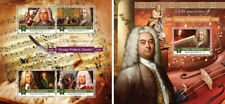 Classic Music Composers George Frideric Handel Maldives MNH stamp set