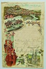 Studentika 1898 Akademische Turnverbindung Marburg Couleurkarte Studentica ATV