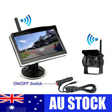 "Wireless Heavy Duty IR Reversing CCD Camera 5"" Monitor Cigarette Lighter Caravan"