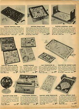 1955 PAPER AD Electric Ice Hockey Board Game Stars and Stripes Football Baseball