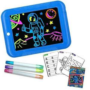 3D Magic Kinder Pad Spielzeug Light Up Board Zeichnung Tablet Kunsthandwerk Blau