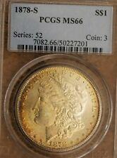 1878-S Morgan Silver Dollar PCGS MS-66!