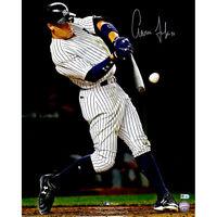 "AARON JUDGE Autographed 16"" x 20"" Hitting Home Run Photograph FANATICS"