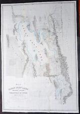 1852 Howard Stansbury Large 1st Antique Map The Great Salt Lake & City of Utah