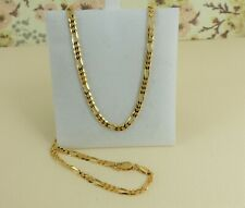 9ct 9carat Yellow Gold Solid Figaro Link Chain, 20'' Inch, 6.9 grams