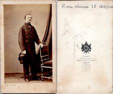 CDV Ken, Paris, Homme nommé Pierre-Narcisse Le Verdier, circa 1860 Vintage CDV a