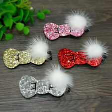 Christmas Pet Dog Hair Clips Bows Glitter Grooming Accessory Hairpins Xmas Gift