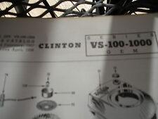 clinton parts list,clinton vs-100-1000 illustrated antique clinton engine 1963pr