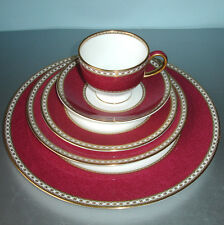 Wedgwood ULANDER Powder Ruby 5 Piece Place Setting Made in UK 2nd Quality