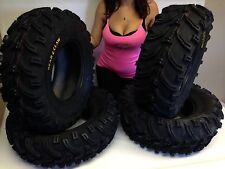 "2004-2014 YAMAHA GRIZZLY 450 660 700 25"" KENDA BEAR CLAW ATV TIRES FULL SET OF 4"