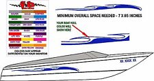 TIDAL WAVE DECAL GRAPHICS FOR BOAT SIDES - FREE SHIPPING - CHOICE OF COLOR