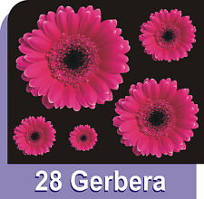 28 GERBERA FLOWER CAR NURSERY STICKERS GRAPHICS CAR WINDOW WALL