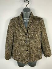 WOMENS EASTEX BLACK/BROWN SMART/CASUAL  BUTTON UP BLAZER COAT JACKET SIZE 12