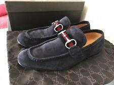 GUCCI Velvet Horsebit Loafers GG