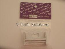 Dolls house :1/12th White wooden  shelf  BNIP  -By Fran