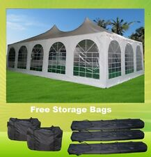 Pagoda PVC Tent 32'x20' - Heavy Duty PVC Wedding Party Tent - White