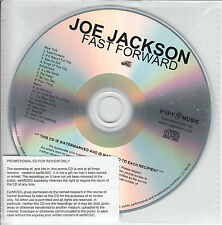 JOE JACKSON Fast Forward UK numbered 16-track promo test CD
