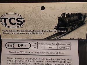 TCS #1335 DP5 Train Control Systems HO Decoder 5 Function  BIGDISCOUNTTRAINS