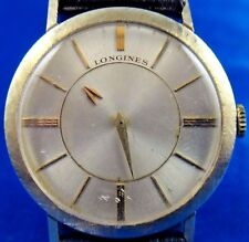 14k Gold Longines Mystery Dial Men's Mechanical Handwinding Swiss Watch