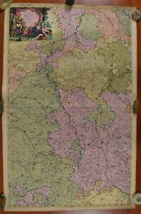 Alexis Jaillot 1696 Map of the River Meuse Page 2 Cours de la Meuse