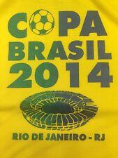 Brazil Brasil Copa 2014 World Cup Rio De Janeiro Yellow Green Tee T Shirt Men L