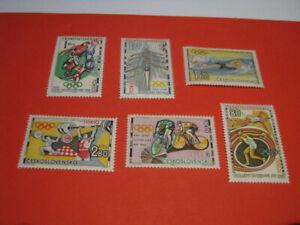 """Tschechoslowakei 1964 """"Olympia Tokio"""" - MI 1488-93 / postfrisch"""