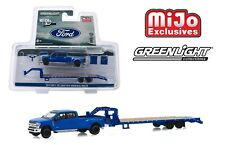 Greenlight Hitch & Tow 2019 Ford F-350 Lariat with Gooseneck Trailer 1/64 51307