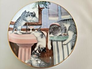"""Cat Kitty Collector Plate """"Mischief Makers"""" Country Kitties Artist Gre Gerardi"""