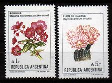 Argentinien 1757,1855 **, 2 Freimarken Blumen-Begonie,Kaktus aus 1985/87