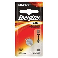2 Pack Energizer Watch/Electronic Battery, Alkaline, A76, 1.5V, Mercury Free